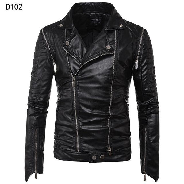 Motorcycle Leather Jacket Men