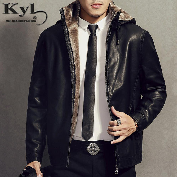 Winter jacket jackets men Warm High Quality PU Fur Coat