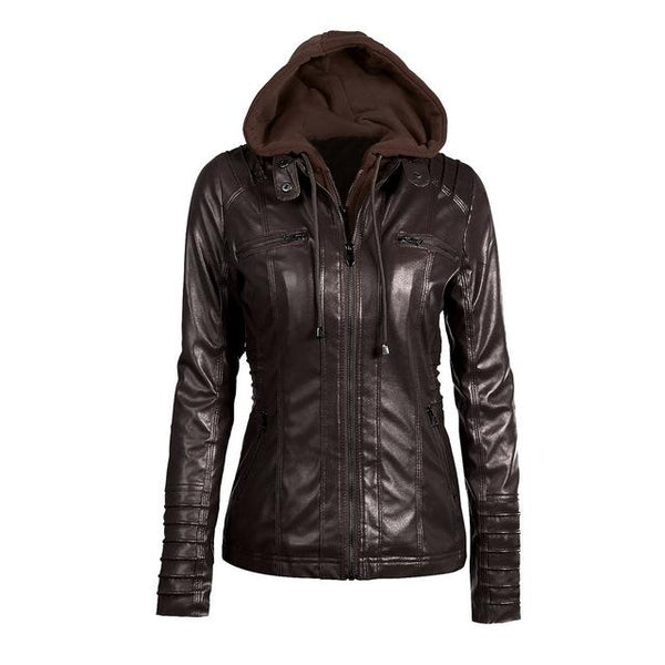 Autumn Winter Women  Leather Jacket