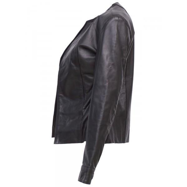 Timeless Black Women Designer Leather Jacket