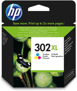HP Ink Cartridge No. 302XL Cyan/Magenta/Yellow