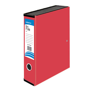 Initiative Lockspring Box File A4/FC 70mm Capacity Red