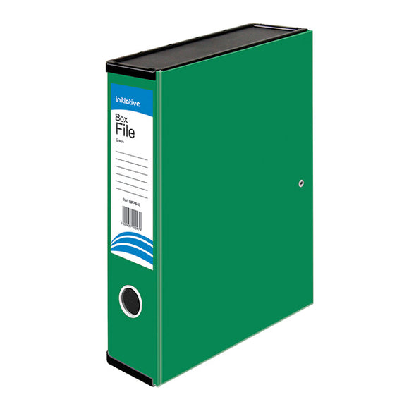Initiative Lockspring Box File A4/FC 70mm Capacity Green