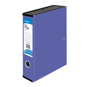 Initiative Lockspring Box File A4/FC 70mm Capacity Purple