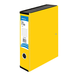 Initiative Lockspring Box File A4/FC 70mm Capacity Yellow