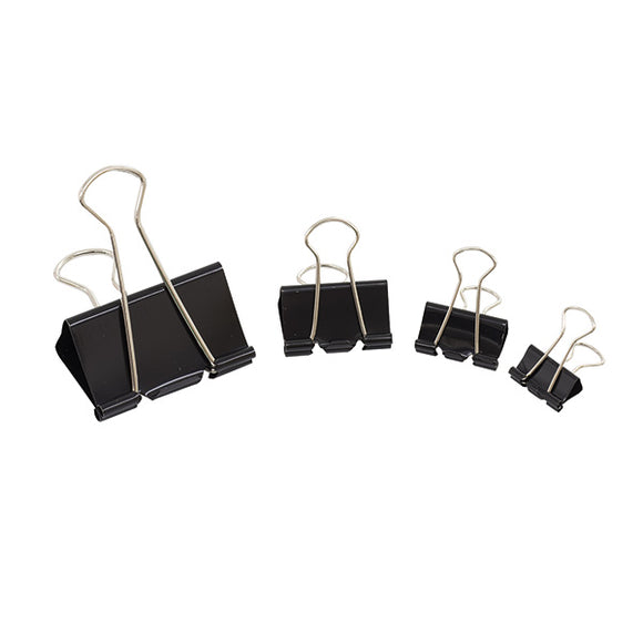 Initiative Foldback Clips 19mm Black Pack 10