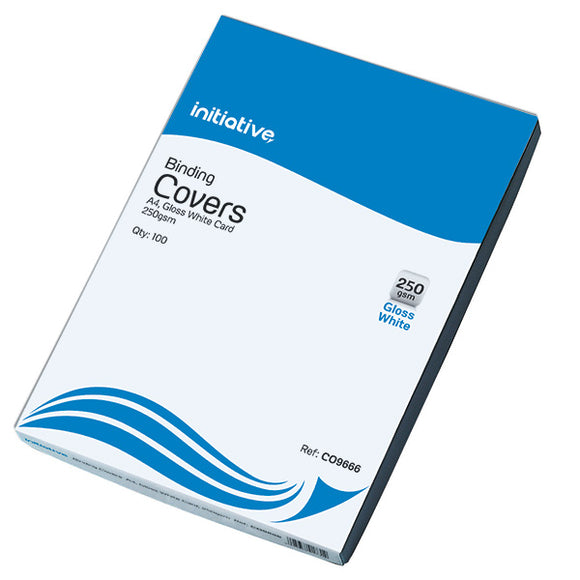 CO9666 | Initiative Cardboard Binding Covers A4 250gsm White Pack 100