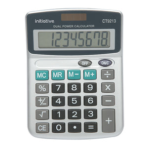 Initiative 8 Digit Semi Desktop Solar Powered Calculator