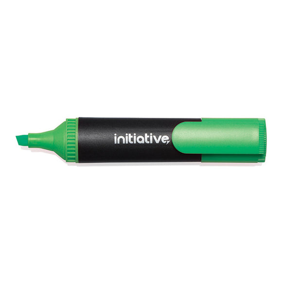 Initiative Water Based Highlighter Wedge Tip Green