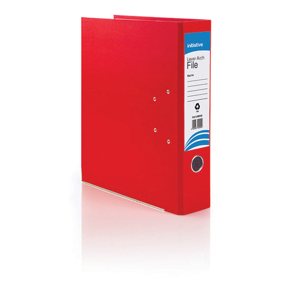 Initiative Lever Arch File A4 Red Metal Shoe and Thumbring
