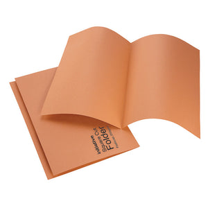 Initiative Square Cut Folders Mediumweight FC Orange
