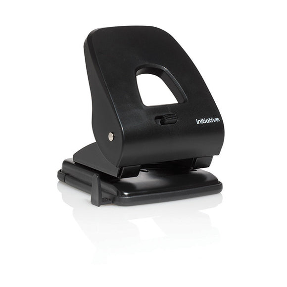 PR9172 | Initiative 2 Hole Punch Heavy Duty Black 40 Sheet Capacity ABS Handle