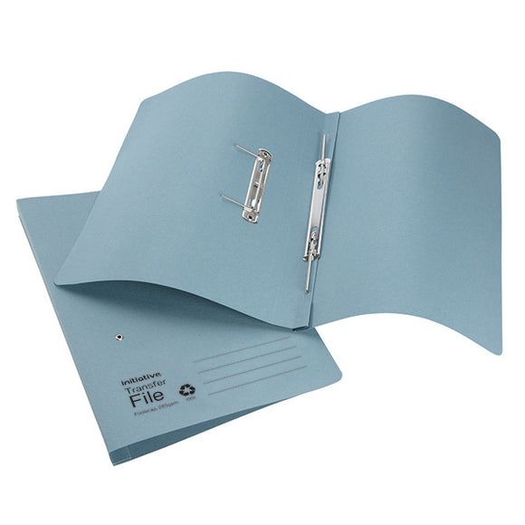 Initiative Transfer Spring File Foolscap 285gsm Blue