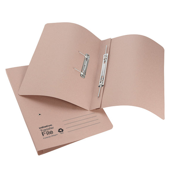 Initiative Transfer Spring File Foolscap 285gsm Buff