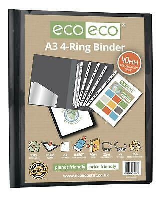Eco-Eco A3 95% Recycled Presentation 4 D Rings Portrait Binder