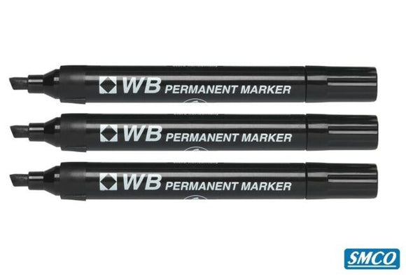 WB PERMANENT BULLET & CHISEL Pack of 10