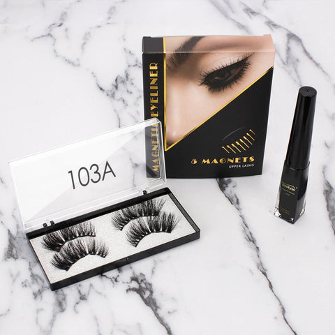 Magnetic Kit (1 Magnetic Eyeliner + 2 Pairs Magnetic Eyelashes)