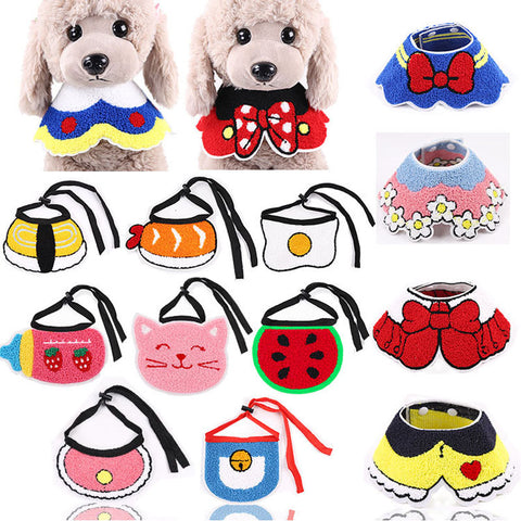 11 styles Dog Bibs Cat Scarf  Bandana Bibs Cute Accessories For Small Medium Dogs Adjustable Pet Neckerchief Scarf Neck Collar L