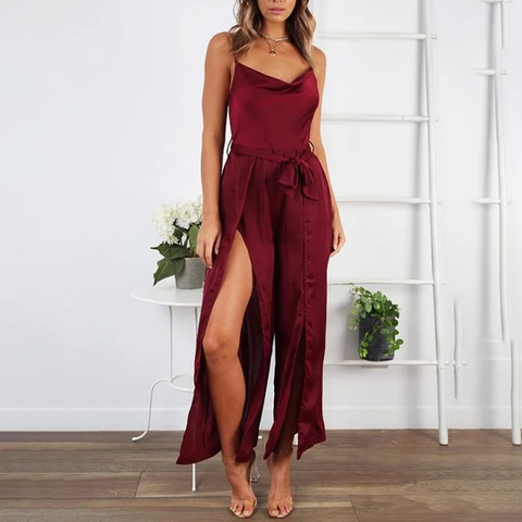 Sexy Sling Split-Length   Jumpsuit