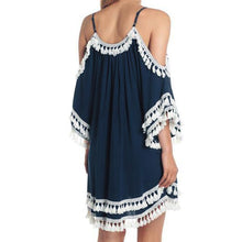 Load image into Gallery viewer, Bohemian Tassel Shift Dresses