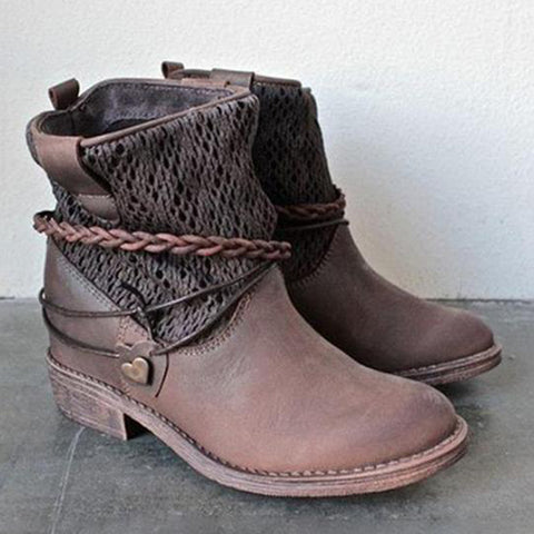 Spliced Mid Calf Boot