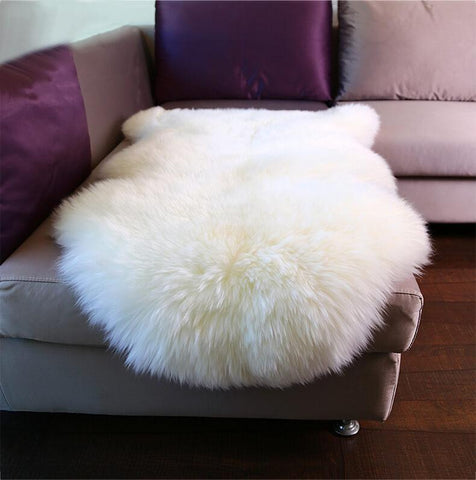 Premium Long Wool Sheepskin Rug