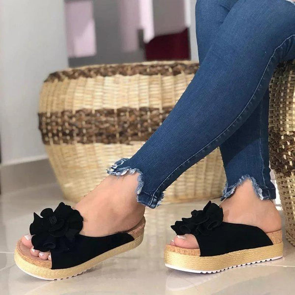 Slip-On Peep Toe Women Platforms