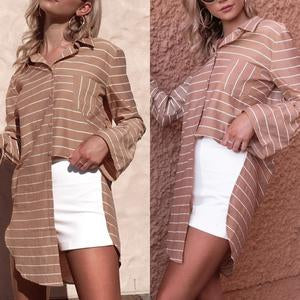 Fashion Long Sleeve Lapel Blouses