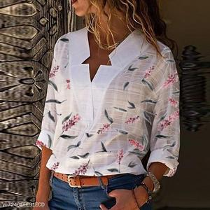 Special V Neck Printed Blouses