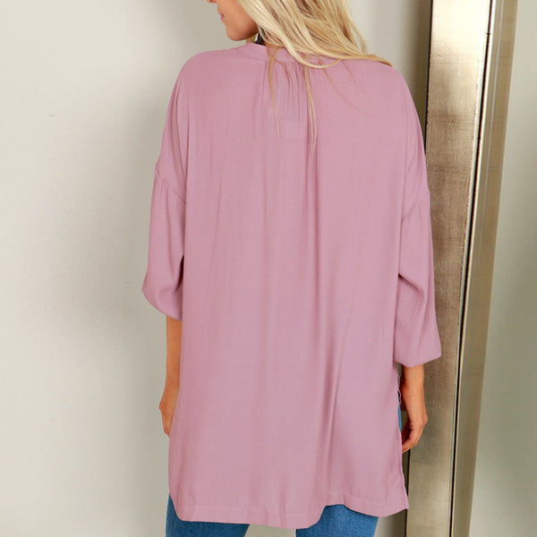 V-Neck Casual Long Sleeve Blouses