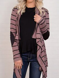Fashion Colorful Striped Long Sleeve Cardigan