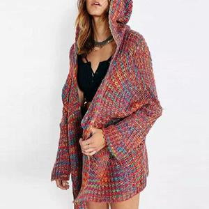 Hooded Snap Front Assorted Colors Cardigans