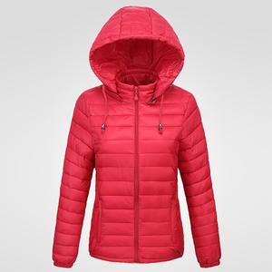 Basic Hooded Quilted Plain Padded Coat
