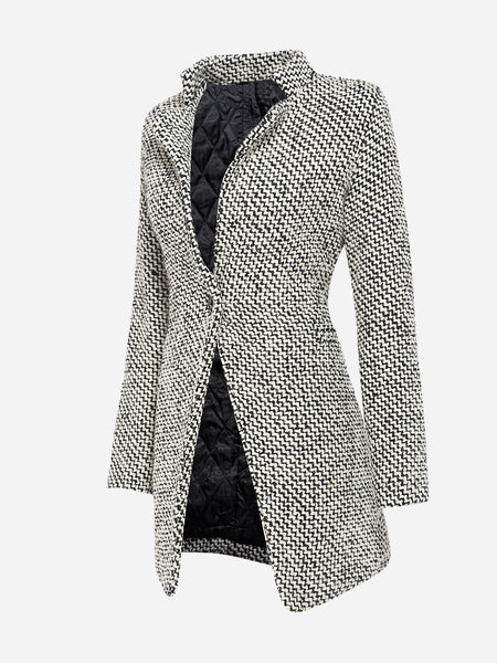 Graceful Lapel Single Button Coat
