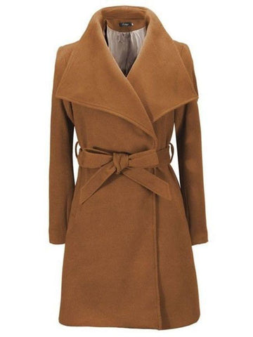 Vintage Lapel Trench Coats With Belt