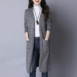 Collarless Patch Pocket Hollow Out Trench Coat