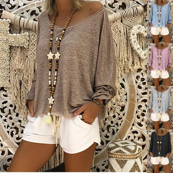 Long Sleeve Casual Daily Blouses