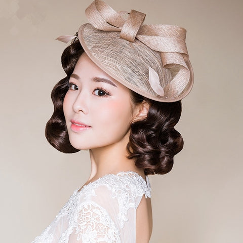 2020 Elegant Women Bridal Hats Church Headpiece Hair Accessories Wedding Veil Hair With Comb Bridal Party Gifts