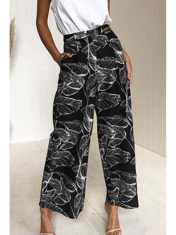 Loose Fitting Printed Pants