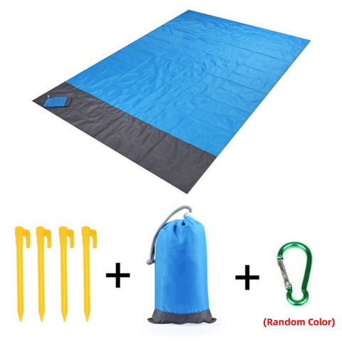 210 * 200cm Folding Camping Carpet Pocket Blanket Waterproof Beach Mat Outdoor Portable Picnic Mat Camping Bed Sleeping Pad