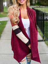 Load image into Gallery viewer, Fashion Early Autumn Irregular Color Block Cardigan