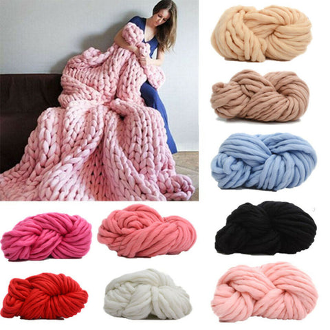 250g/Ball Merino Wool Gaint Yarn Knitting Roving Super Soft Chunky DIY Crochet Thread For Cardigan Scarf Blankets Knitted Yarn