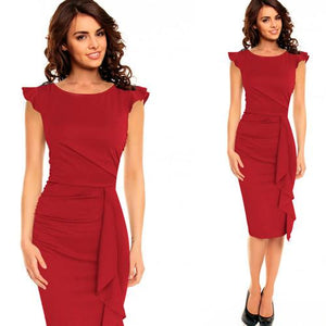 Womens Work Business Casual Party Bodycon Pencil Dresses