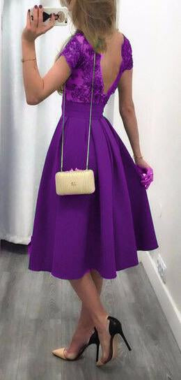 Stitching Sexy Halter Skater Dress