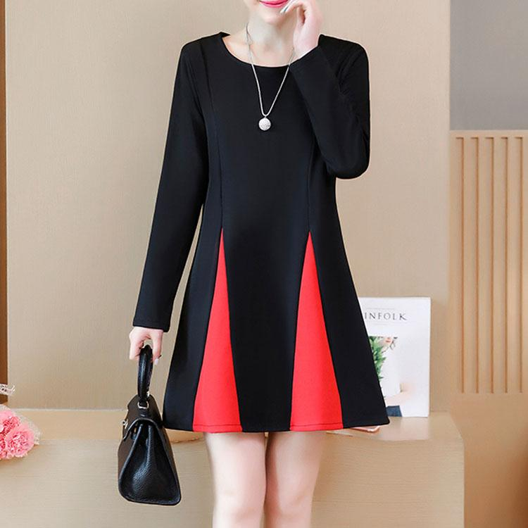Elegant Spell Color Casual Shift Dress