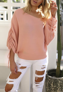 Casual Off Shoulder Pit Sweater Shirt