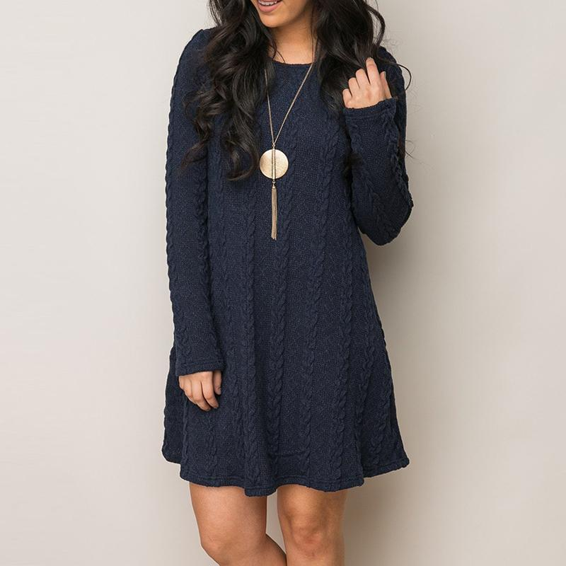 Knitted Casual Shift Dress