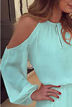 Load image into Gallery viewer, Round Neck Backless Plain Lantern Sleeve Long Sleeve Shift Dresses