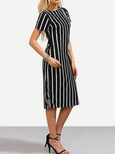 Load image into Gallery viewer, Vertical Striped Bodycon Dress