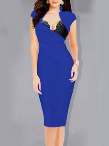 Band Collar Bodycon Dress